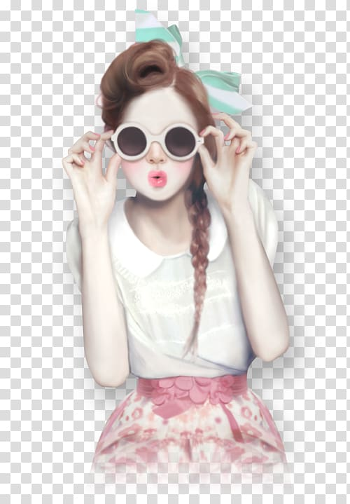 Girly girl Drawing Art, girl transparent background PNG.