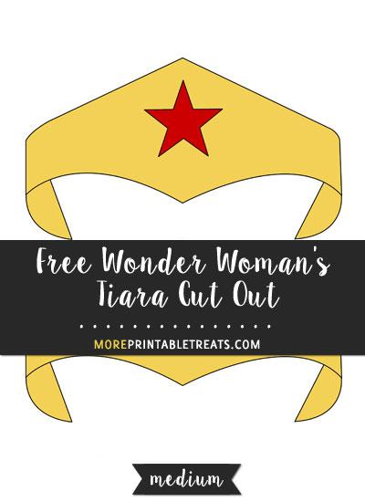 wonder woman tiara and cuffs printable cutout.