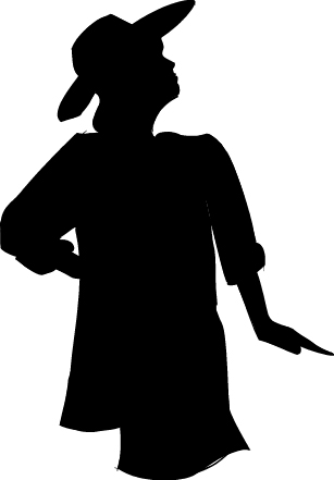 Women In Church Hats Clipart.