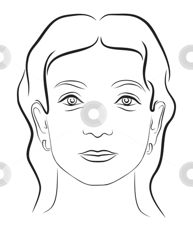 Woman Face Clipart Black And White.