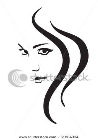 Women's Faces Clipart.