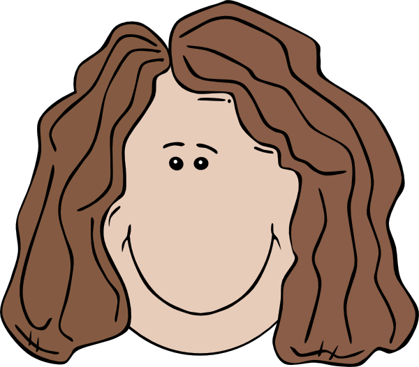 Straight Line Smiley Face Clip Art : Clipart woman face