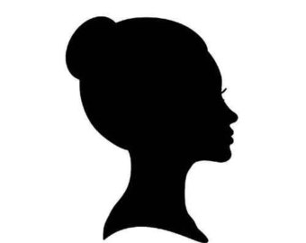 Woman head clipart.