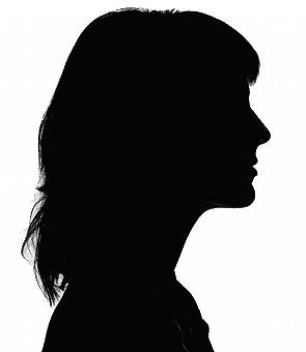 Woman head silhouette clipart.
