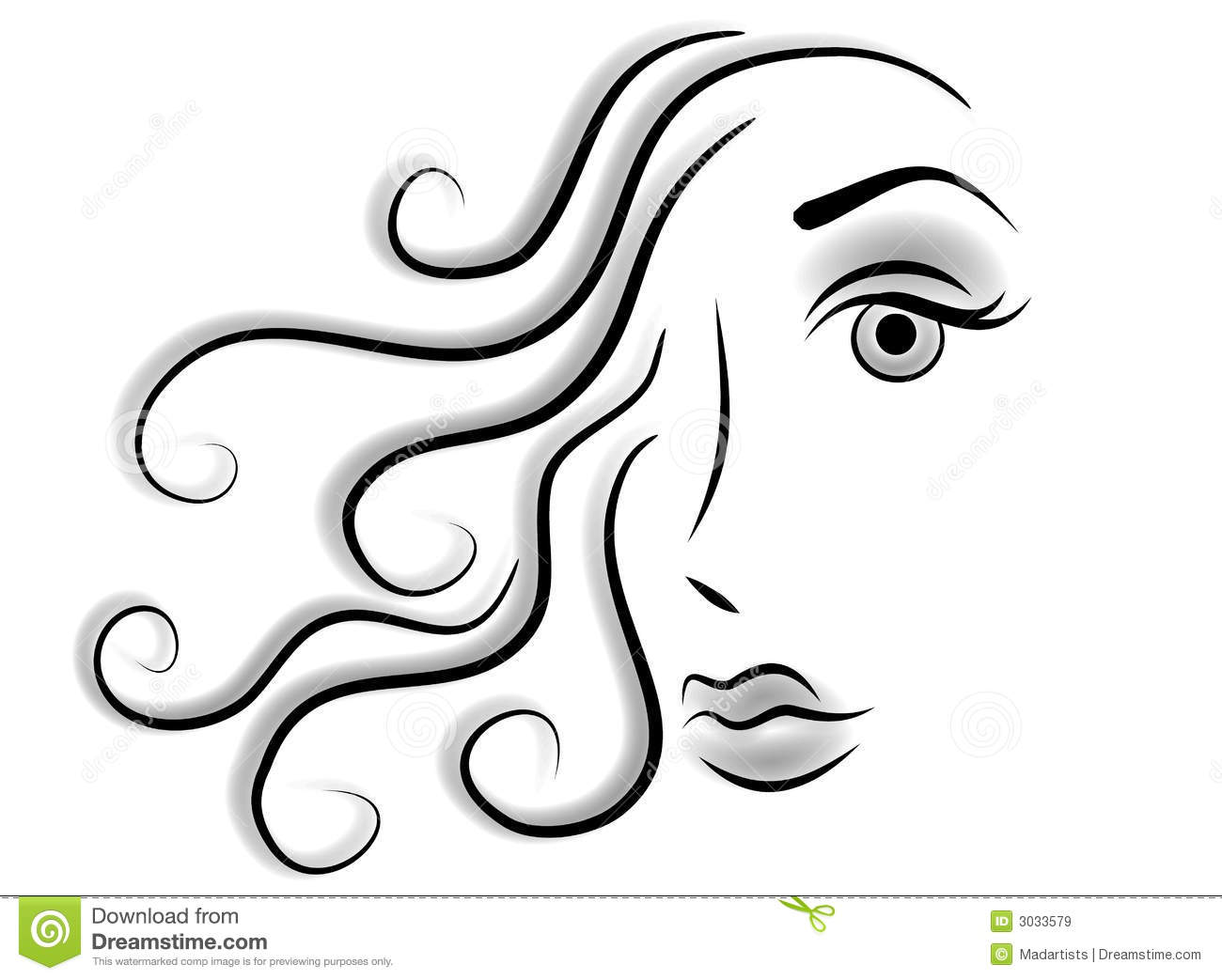 Abstract Face Woman Clip Art Royalty Free Stock Images.