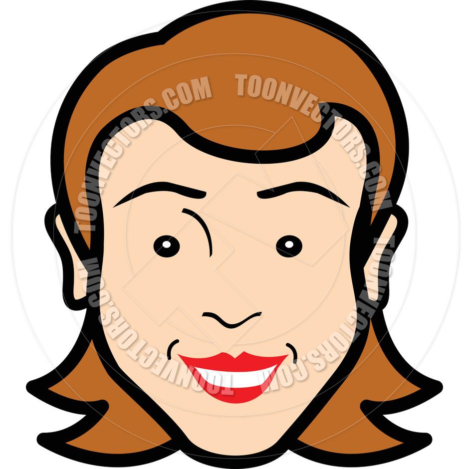 Cartoon Woman's Face Vector Illustration by Clip Art Guy.