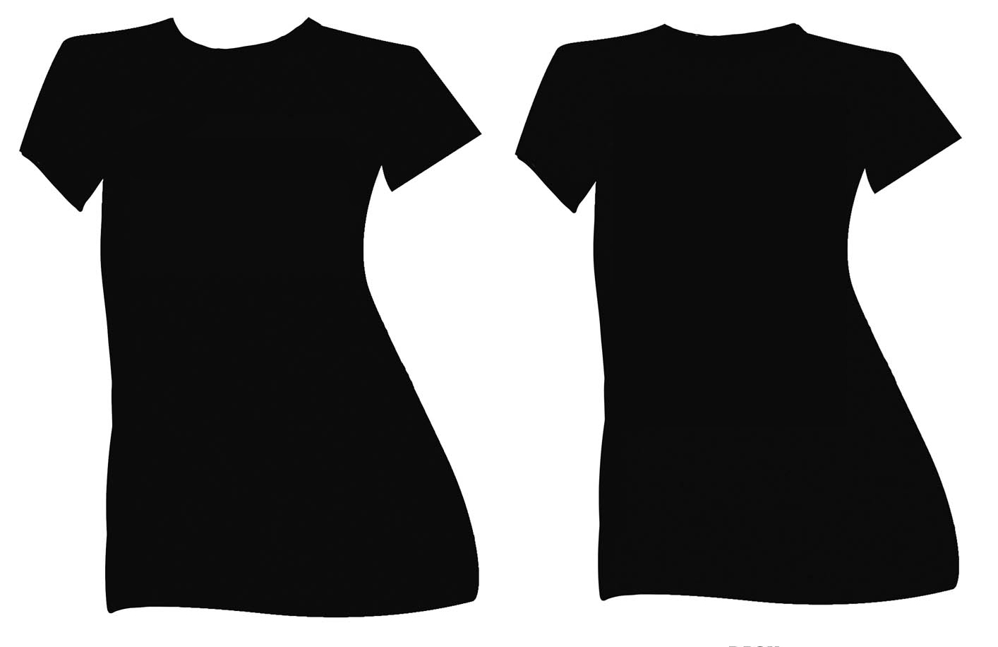Ladies T Shirt Template.