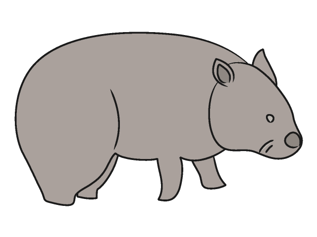 Wombat Clip Art Free.