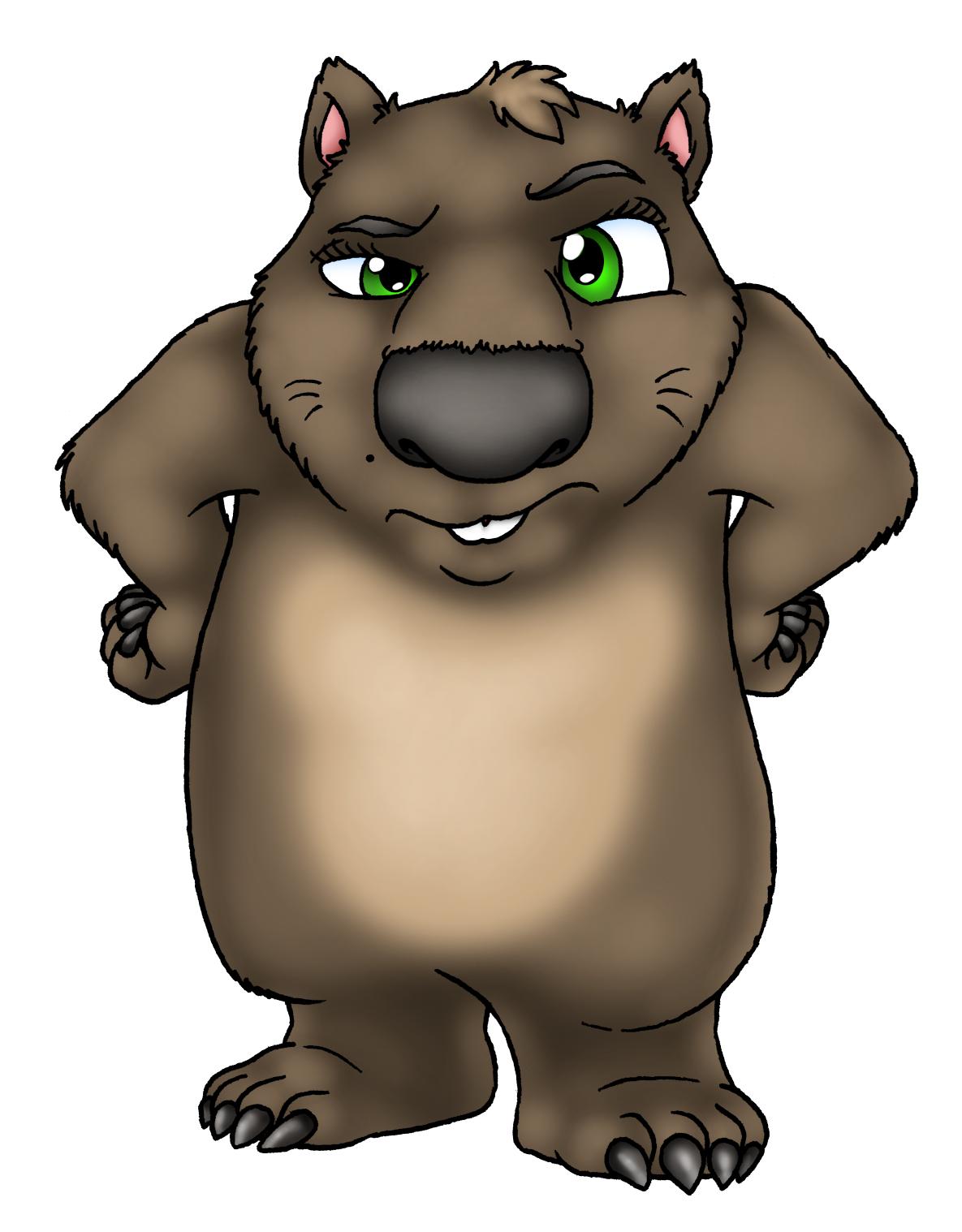 Cartoon Wombat.
