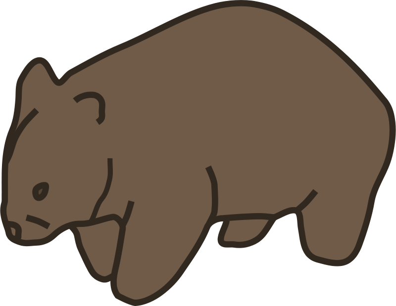 Free Clipart: Wombat.