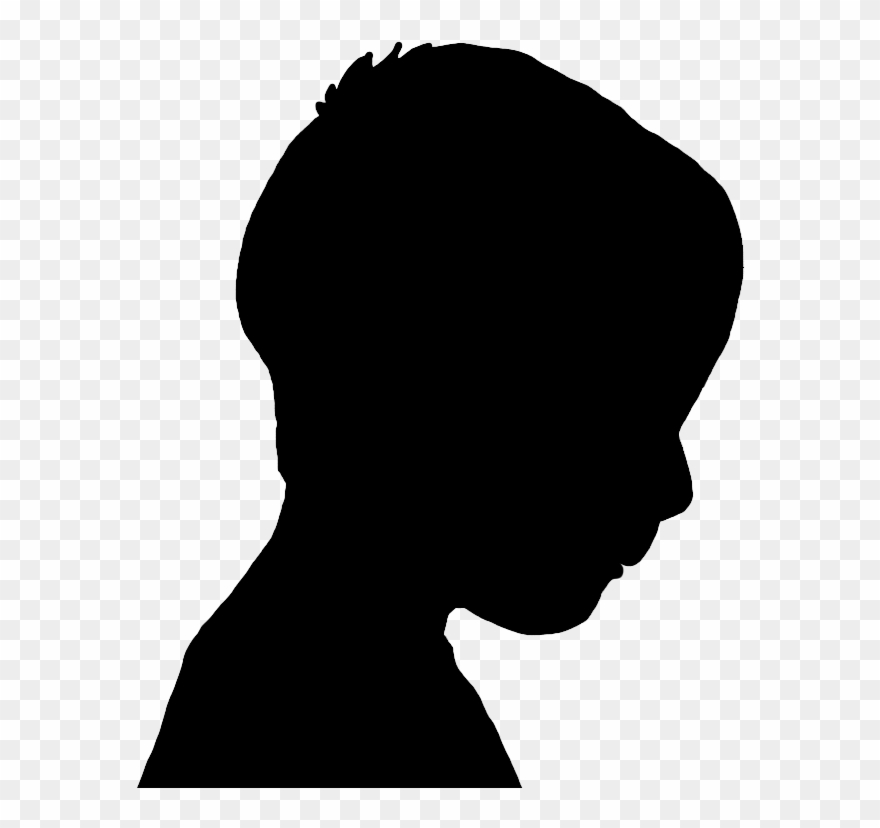 Face Silhouettes Of Men, Women And Children.