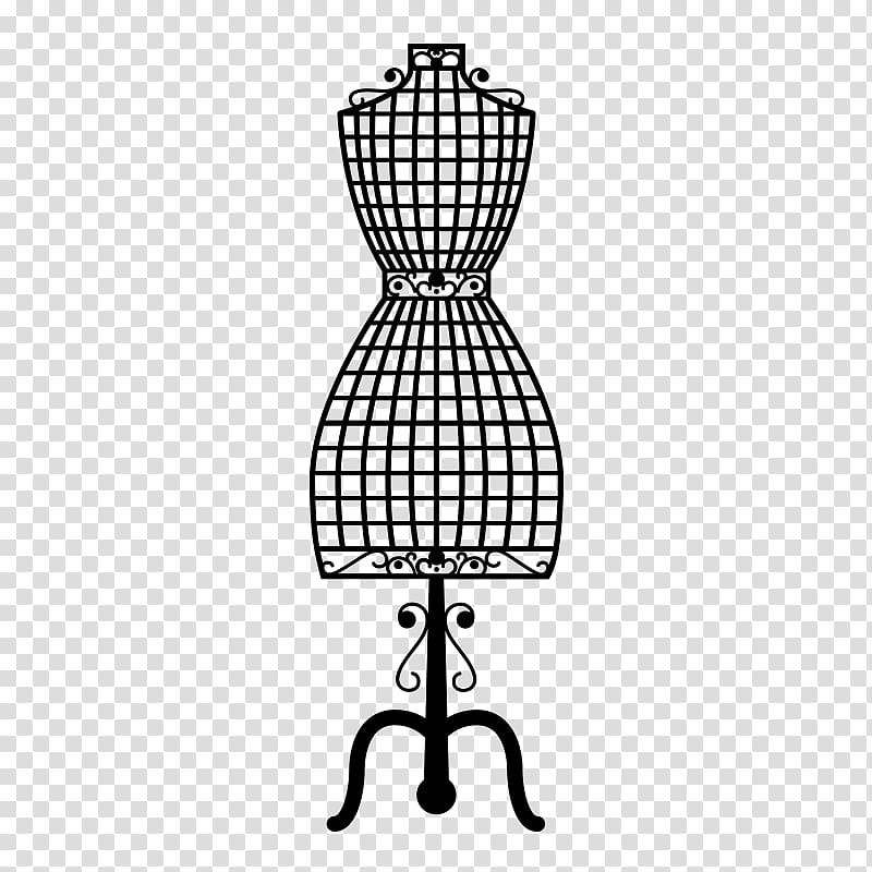 Women\'s black dress form illustration, Mannequin Sewing.