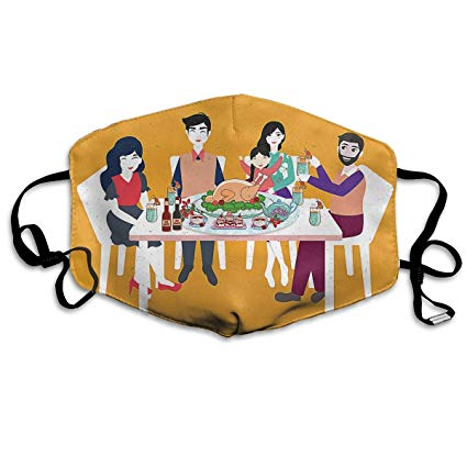 Amazon.com: YUIOP Thanksgiving Table Overhead Vol Printed.