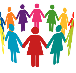 Women Together Clipart.
