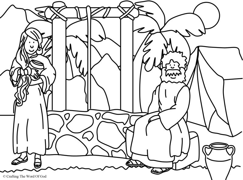 Woman At The Well Coloring Page.