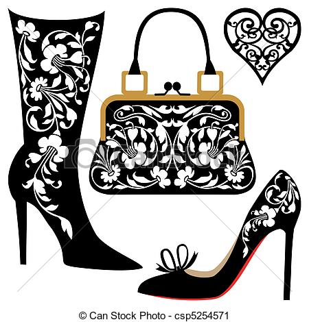 Purses And Shoes Clipart.