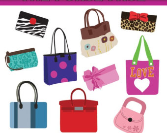 Women's Purse Clipart.