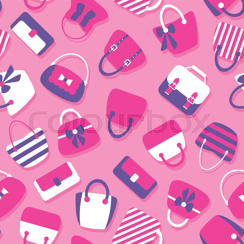 Woman Bags Seamless Pattern. Tiled.
