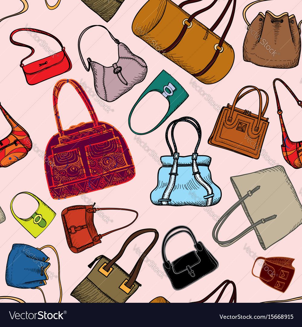 Handbags seamless pattern fashion bag accessory.