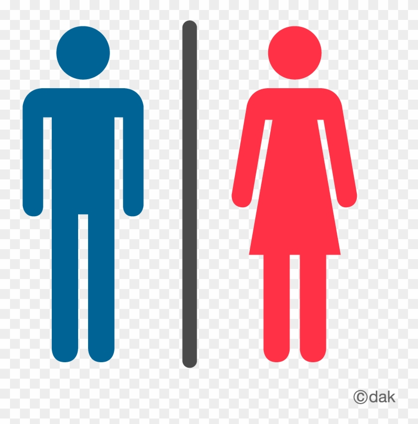 Male And Female Bathroom Signs.