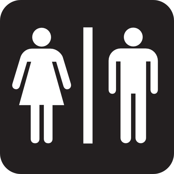 Men Women Bathroom clip art Free vector in Open office drawing svg.
