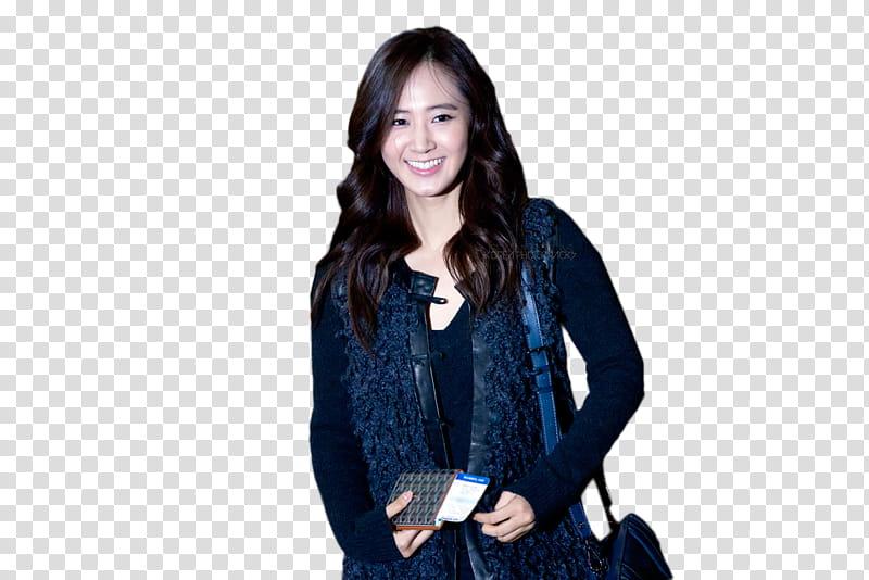 Yuri SNSD , woman wearing blue cardigan transparent.