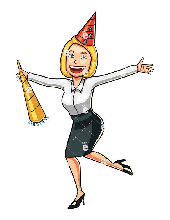 A Celebrating Blonde Businesswoman in 2019.