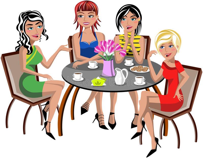 Chatting Women Stock Illustrations.