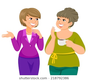 Ladies Chatting Clipart & Free Clip Art Images #19806.