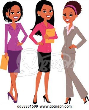 Group Of Girl Friends Clipart.
