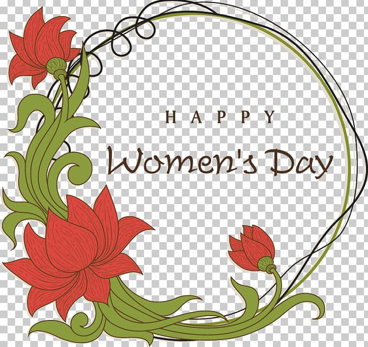 International Womens Day Wish Greeting Card Happiness PNG.