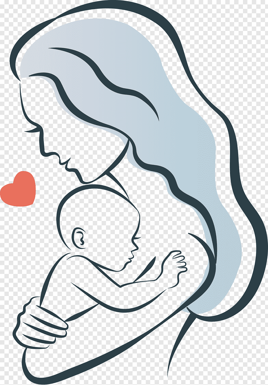 Woman carrying child illustration, Mother Infant Child.