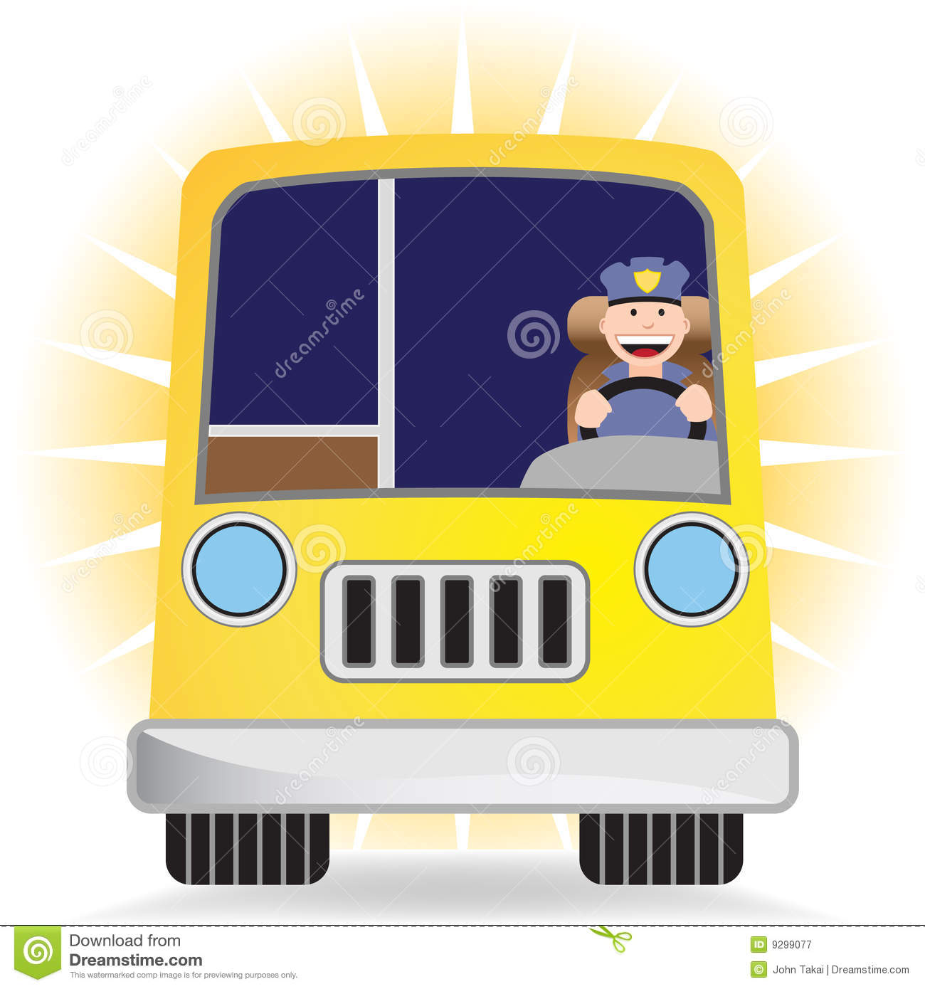 Female Bus Driver Clipart.