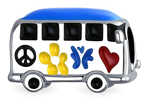 Amazon.com: Peace Love Hippie Bus 1960\'S Multi Color Charm.