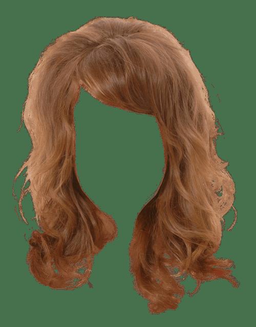 Long Women Hair transparent PNG.