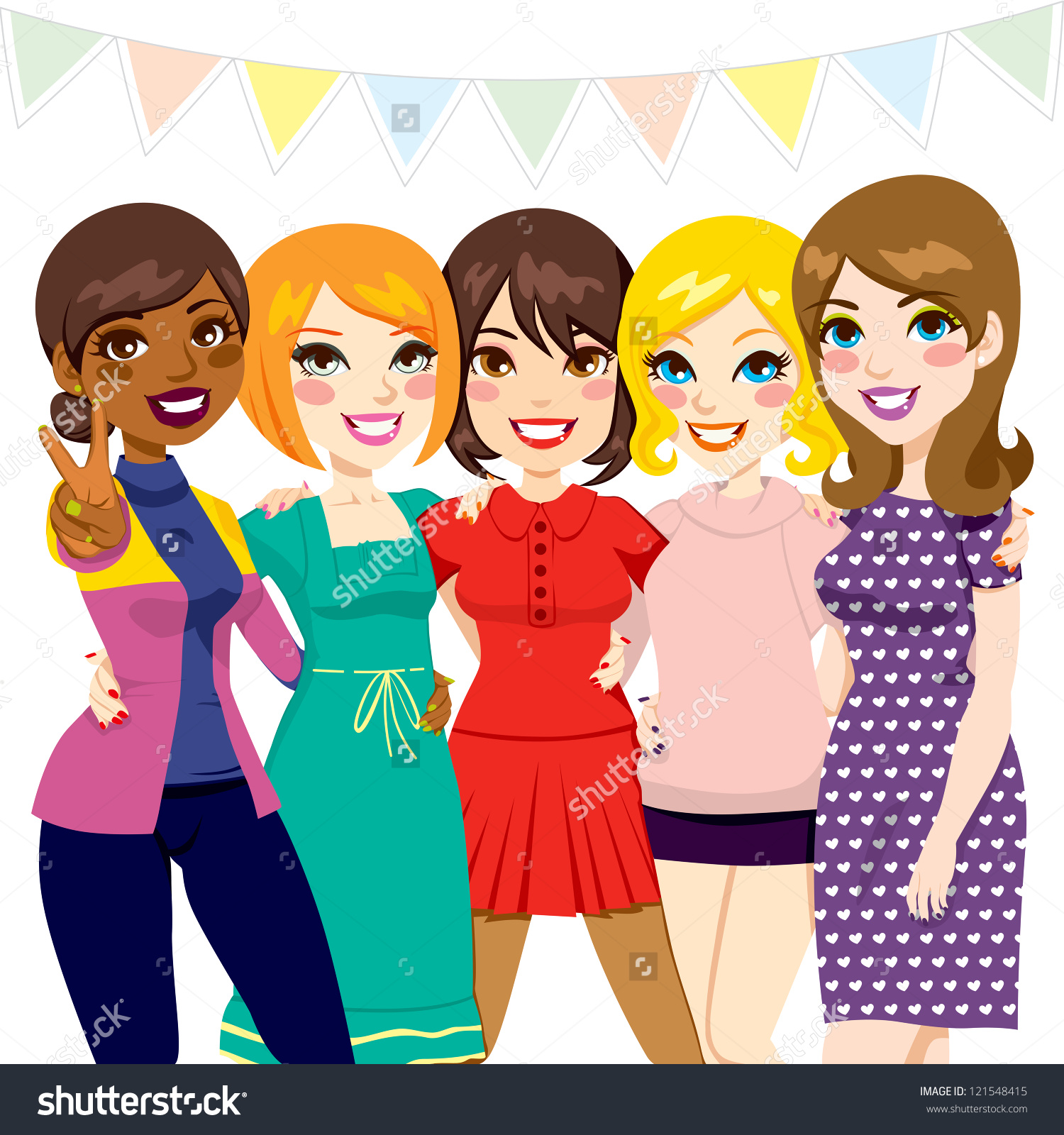 Women Having Fun Clipart.