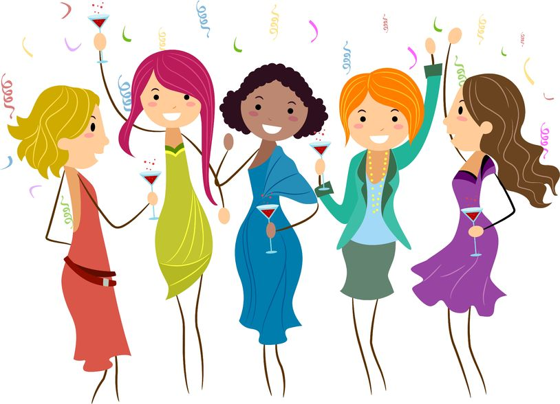 Girls Having Fun Clipart.