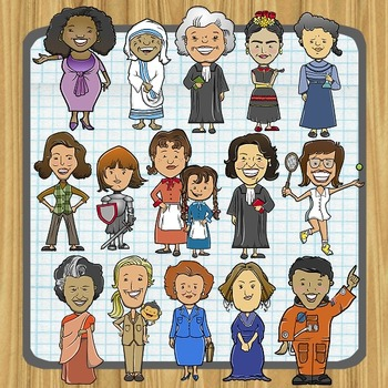 Women in History (and Current Events) Clip Art.