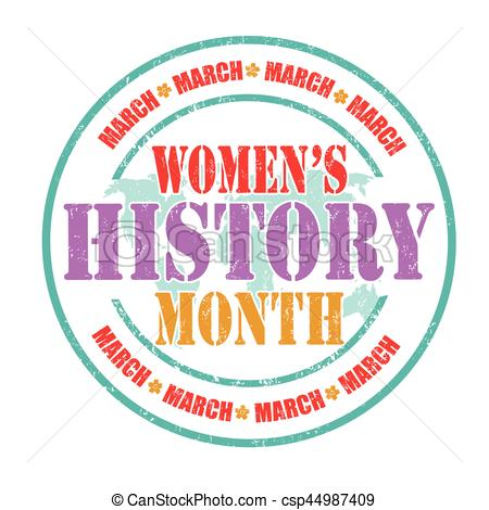 Women\'s history month sign or stamp.