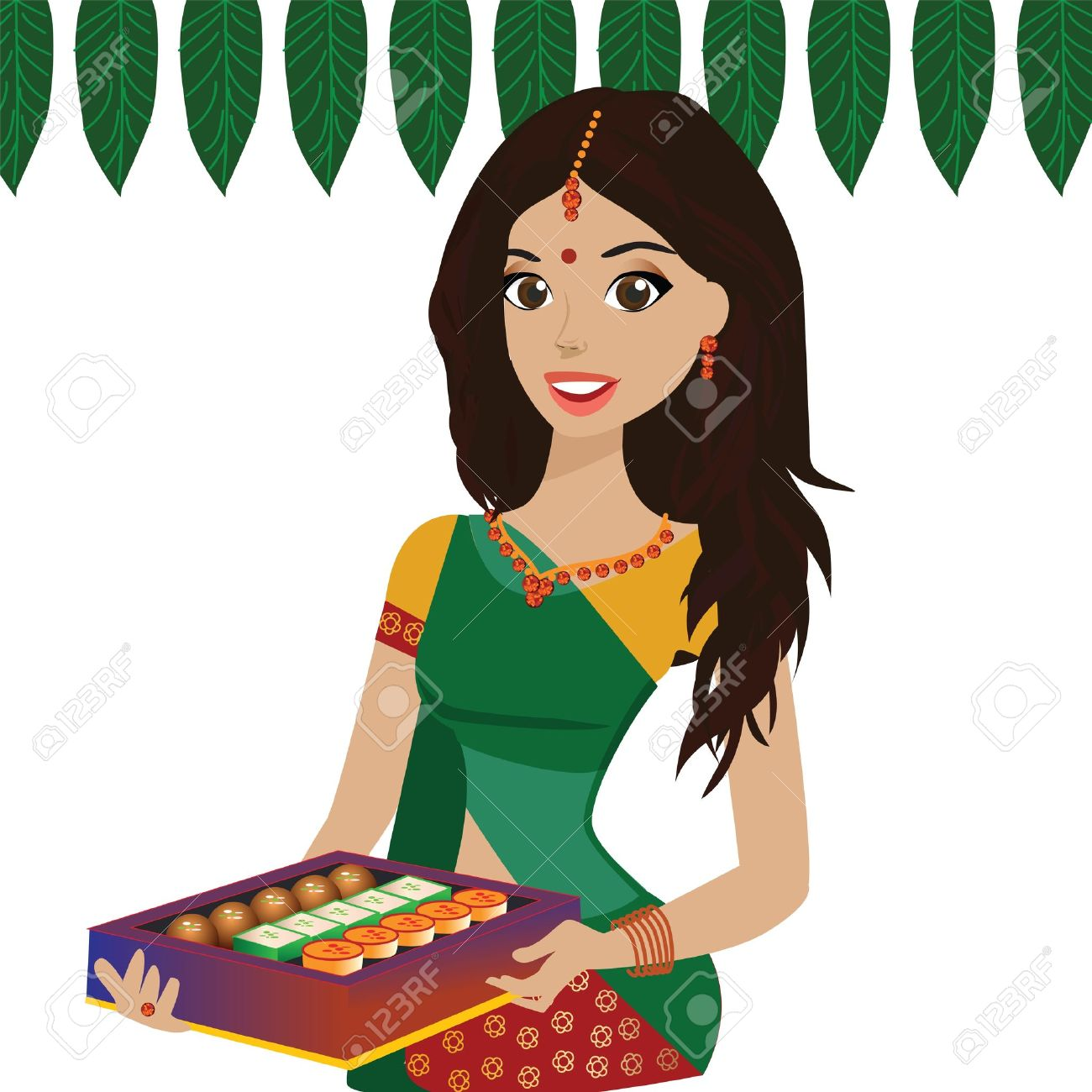 Women Holding Food Clipart.