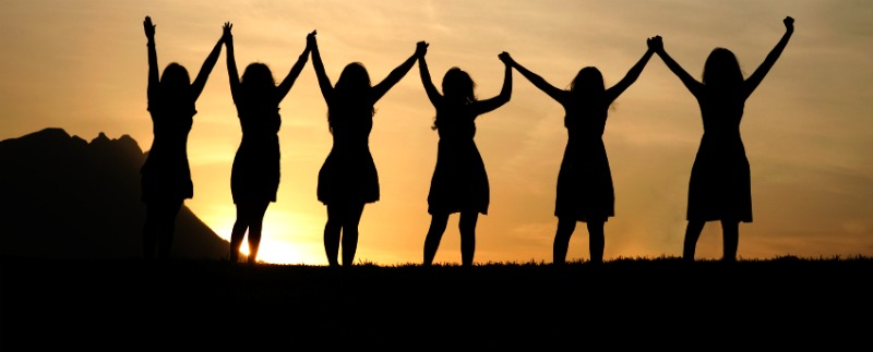 Free Silhouette Of Women Holding Hands, Download Free Clip.