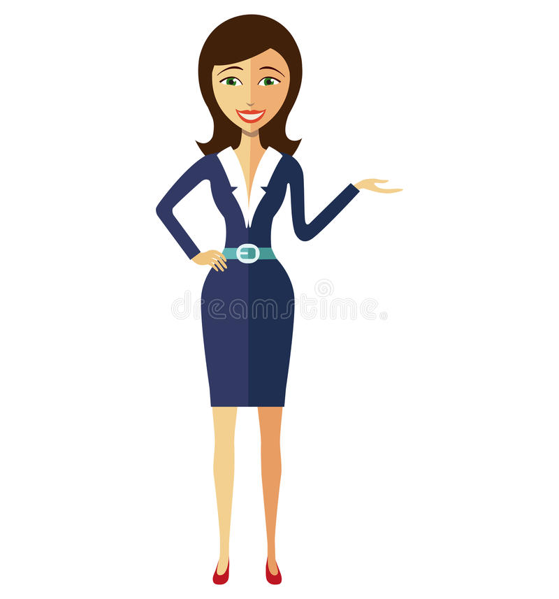 Woman In Suit Clipart.