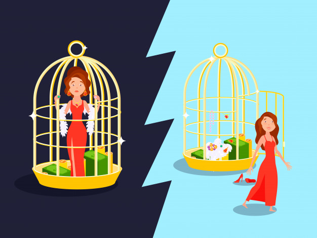 Marriage convenience golden cage love composition with.