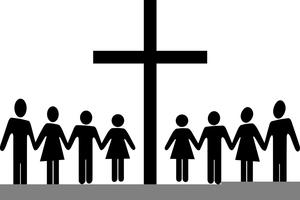 Men Women Church Clipart.