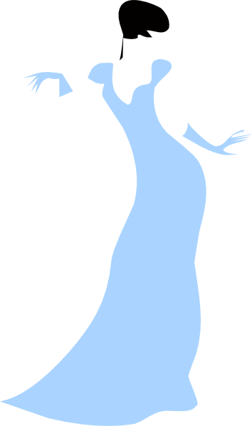 Lady In Dress Clipart.
