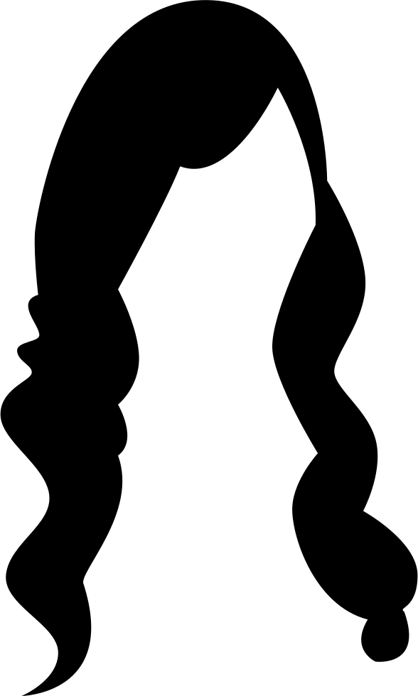 Female Long Hair Comments Clipart.
