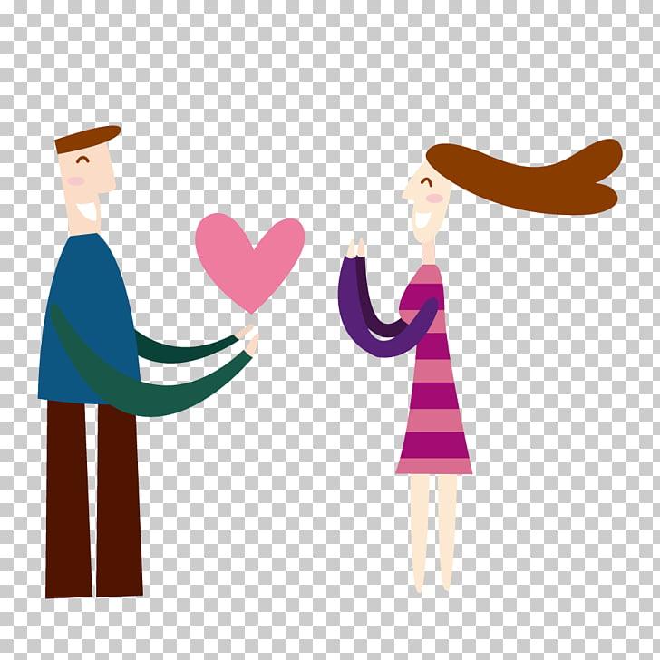 Cartoon Illustration, Women love men gave PNG clipart.