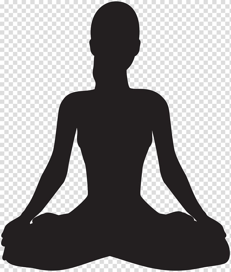 Silhouette of woman, Meditation Silhouette , Meditating.