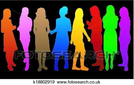 Fashion Women color* Clip Art.