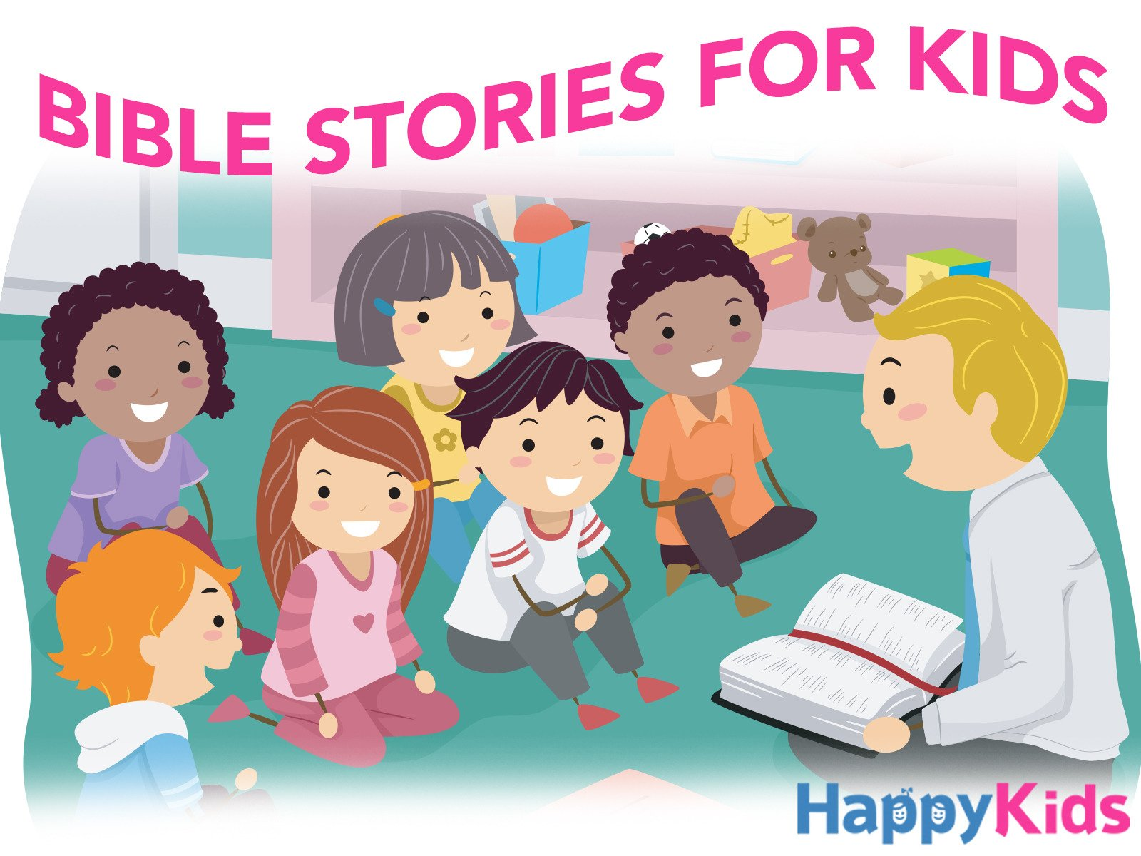 Watch Bible Stories For Kids.